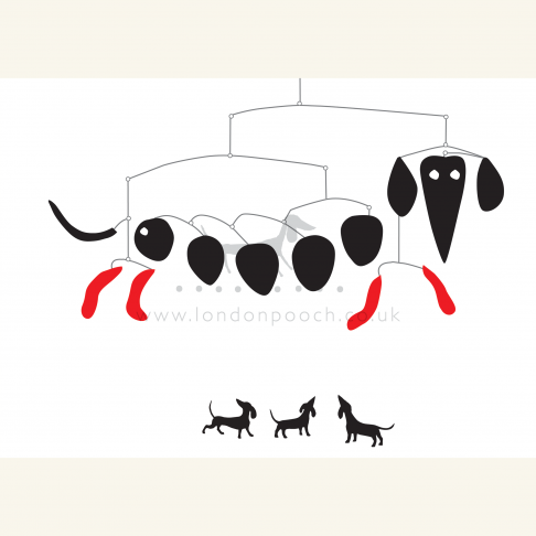 Dachshund Mobile Print in homage to Alexander Calder