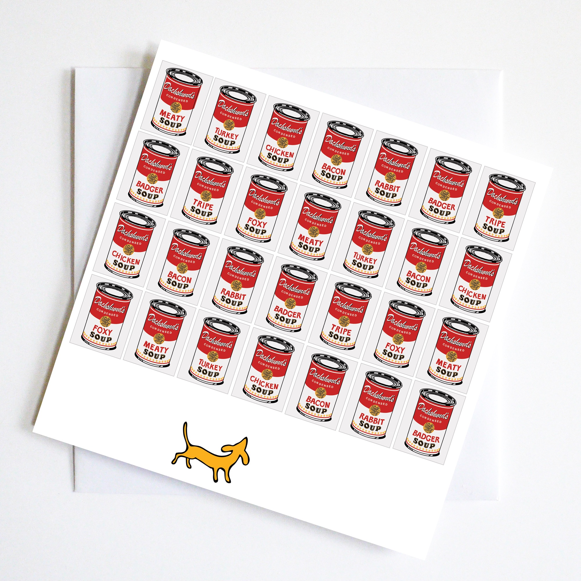 Dachshund Art Lover with Warhol Soup
